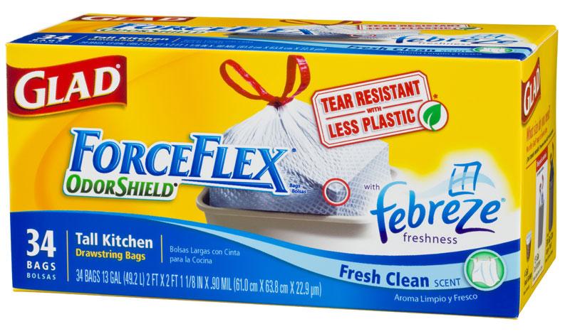 photograph regarding Glad Trash Bag Printable Coupons identify Melissas Coupon Savings: HEB~ Contented ForceFlex Trash Baggage $6.92