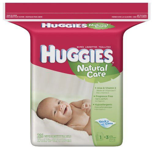 Huggies Natural Care Baby Wipes Fragrance Free Popup