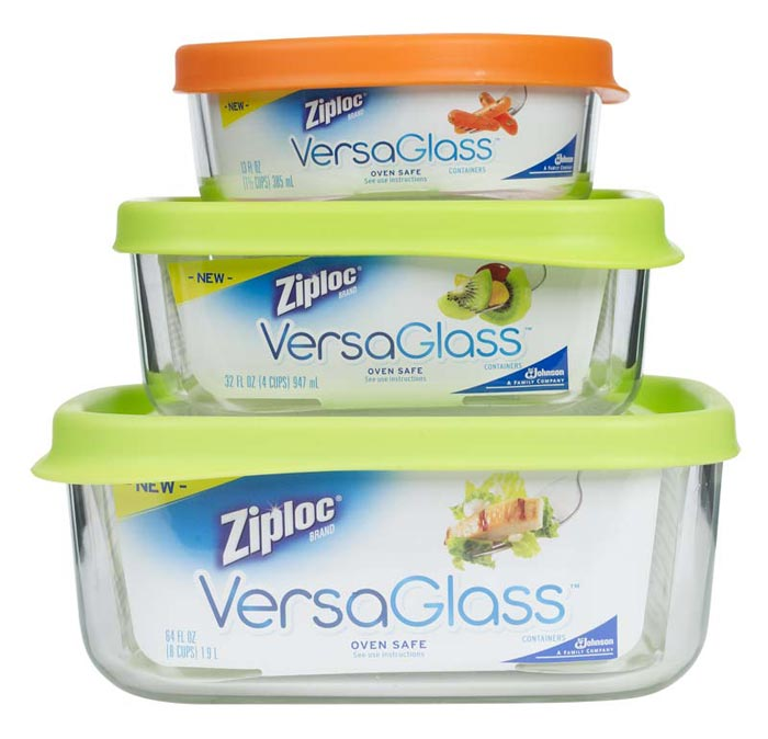 Amazon Com Ziploc Versaglass Container Variety Pack 3