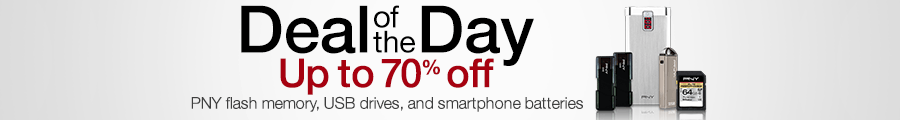 Gold Box Deal of the Day: Up to 70% Off PNY Flash Memory, USB Drives, and Smartphone Batteries