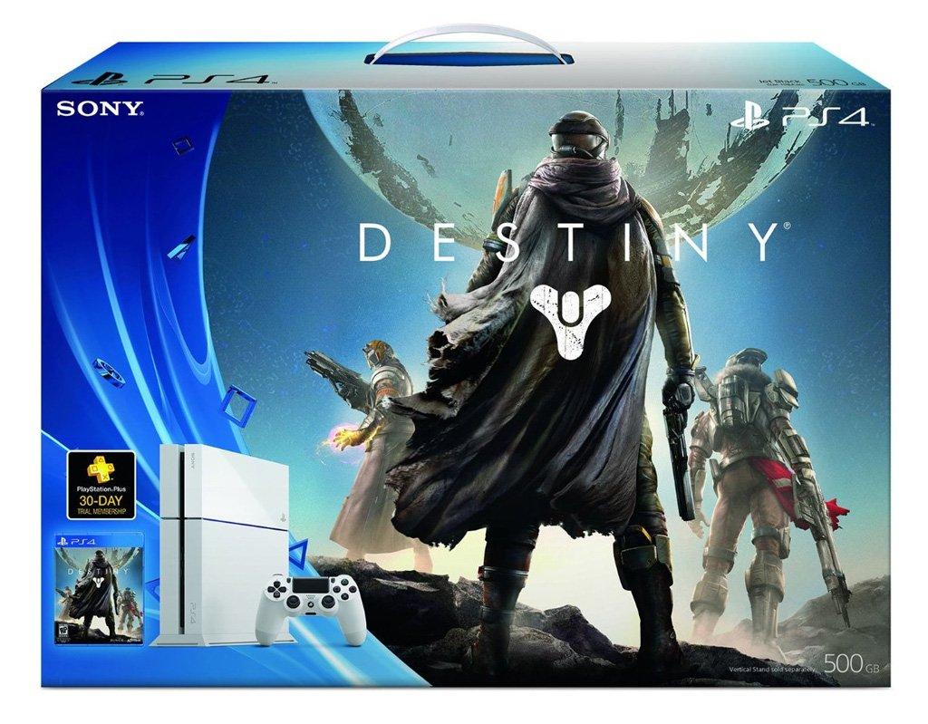 New Sony PlayStation 4 500GB Destiny Bundle White Glacier ...