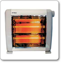 New Small Quiet Compact Infrared Quartz Space Heater