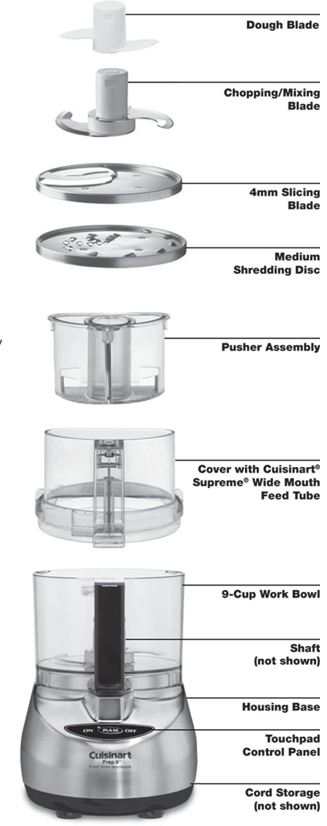 Cuisinart Dlc 2009chb Prep 9 9 Cup Food Processor Brushed
