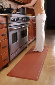 GelPro Ostrich Comfort Floor Mat, 20-Inch by 72-Inch, Black ...