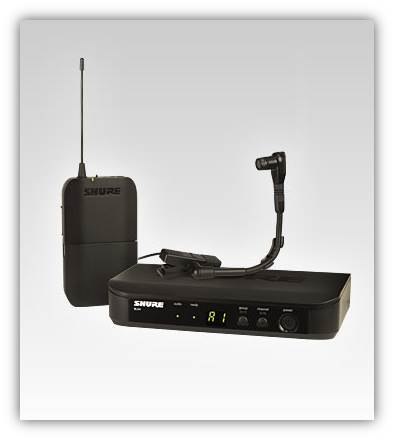 shure blx14 b98 wireless instrument system with beta 98h c instrument microphone h8. Black Bedroom Furniture Sets. Home Design Ideas