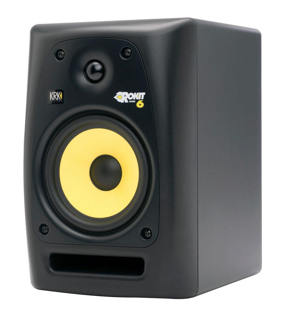 krk rp6g2 rokit g2 6 inch powered studio monitor single speaker musical instruments. Black Bedroom Furniture Sets. Home Design Ideas