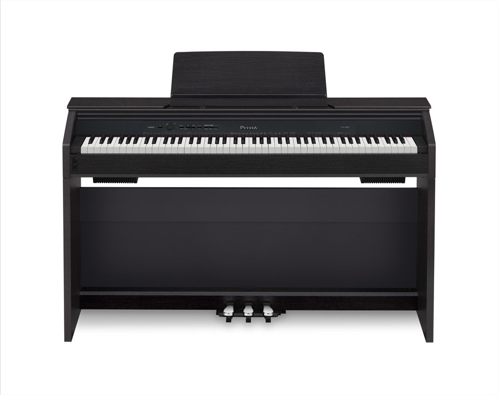 casio px850 bk 88 key touch sensitive privia digital piano with 4 layer stereo grand. Black Bedroom Furniture Sets. Home Design Ideas