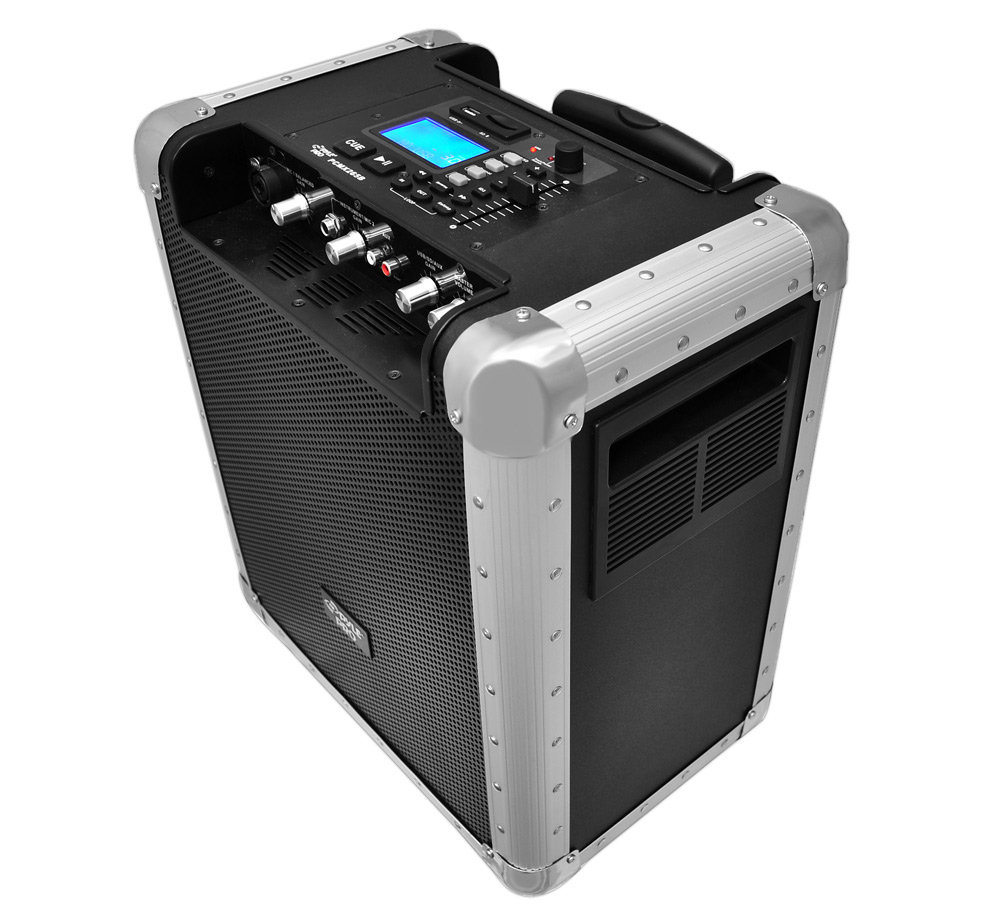 pylepro pcmx265b battery powered portable pa system with usb sd ebay. Black Bedroom Furniture Sets. Home Design Ideas