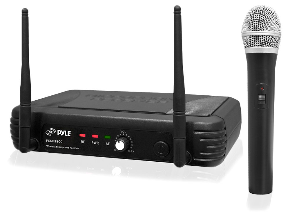 new pylepro pdwm1800 premier series professional uhf wireless microphone system ebay. Black Bedroom Furniture Sets. Home Design Ideas