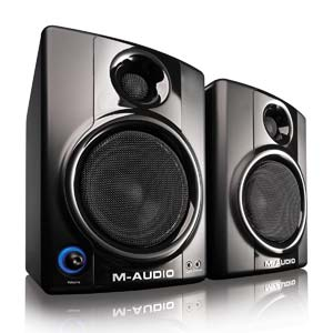 m audio studiophile av 40 active studio monitor speakers pair musical instruments. Black Bedroom Furniture Sets. Home Design Ideas