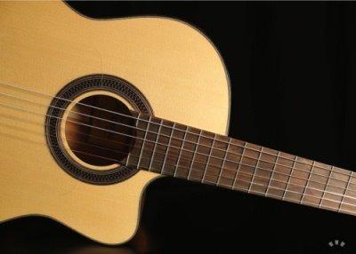 Front of the Cordoba GK Studio guitar.