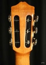 Detail of the black & gold tuning machines.