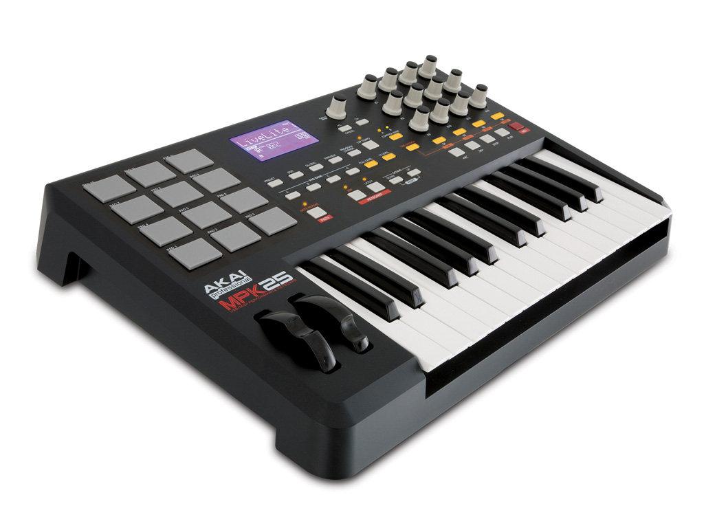 akai professional mpk25 25 key usb midi keyboard controller with mpc pads musical. Black Bedroom Furniture Sets. Home Design Ideas
