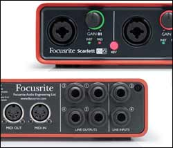 focusrite scarlett 6i6 6 in 6 out usb 2 0 audio interface with two focusrite mic. Black Bedroom Furniture Sets. Home Design Ideas