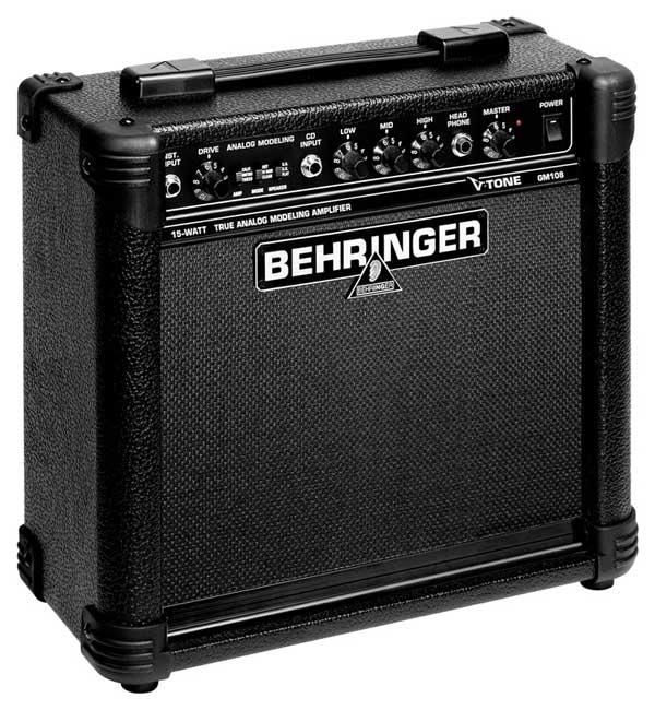 behringer gm108 true analog modeling 15 watt guitar amplifier musical instruments. Black Bedroom Furniture Sets. Home Design Ideas