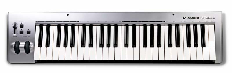 m audio keystudio 49 key usb midi controller keyboard for mac ipad garageband ebay. Black Bedroom Furniture Sets. Home Design Ideas