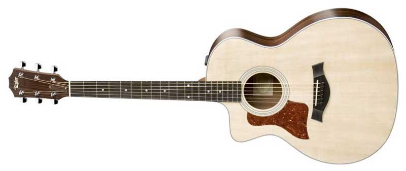 taylor guitars 214e grand auditorium solid sitka spruce top rosewood back sides. Black Bedroom Furniture Sets. Home Design Ideas