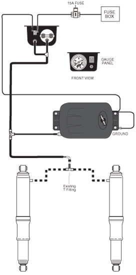 air lift controller wiring diagram amazon.com: air lift 25804 air shock controller kit ...