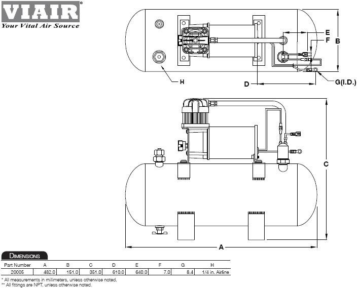 Viair 35030 350c Air Compressor Kit Air Compressors