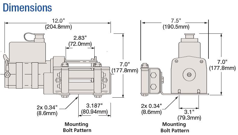 amazon com superwinch 1331200 ut3000 12 vdc winch 3 winch wiring diagram with circuit breaker