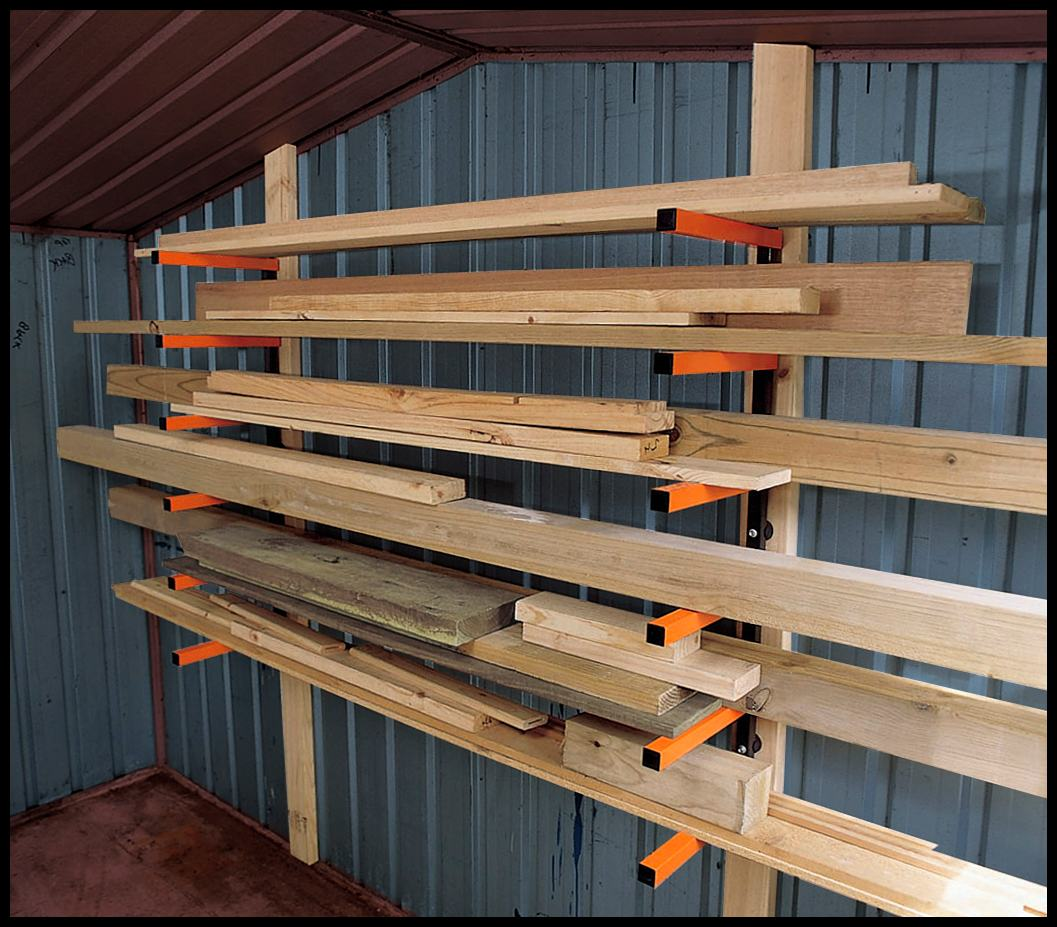 Garage Utility Shelf Plans Pdf Woodworking: Wood Storage Rack PDF Woodworking