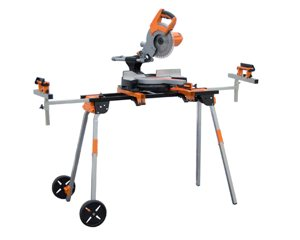 Folding Miter Saw Stand With Wheels And 110v Outlet