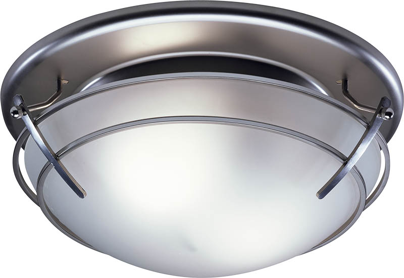 Broan 757SN Bathroom Ceiling Fan/Light With Frosted-Glass
