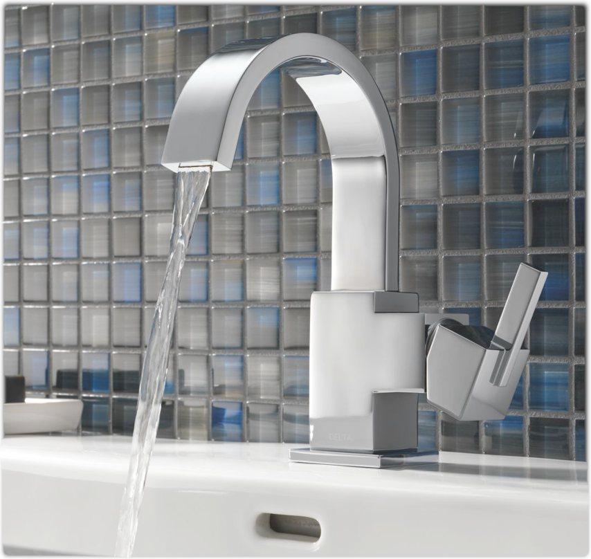 Delta 553lf Vero Single Handle Centerset Lavatory Faucet