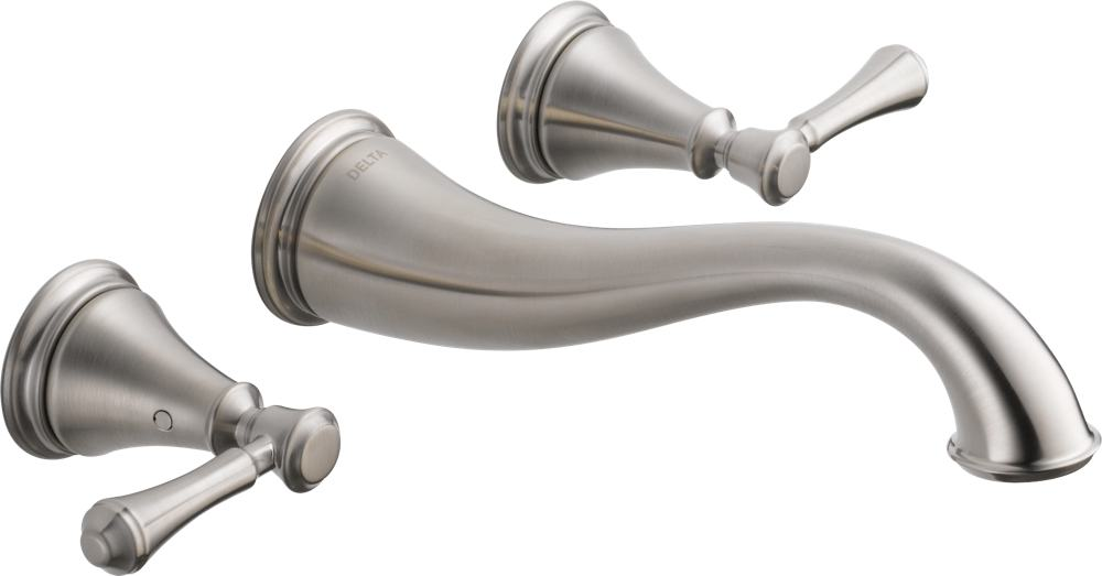 Delta Faucet 3597lf Czwl Cassidy Two Handle Wall Mount