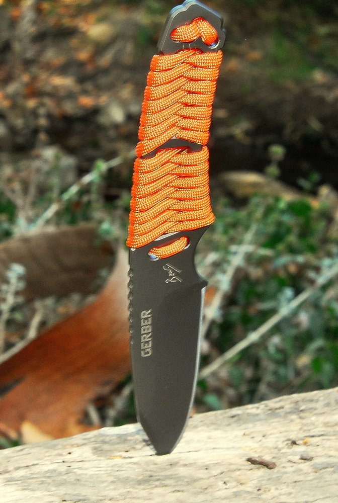 Gerber Bear Grylls Cord Wrapped Handle Fixed Blade Survival Knife 31 001683 New | eBay