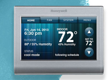 honeywell wi fi smart thermostat rth9580wf programmable. Black Bedroom Furniture Sets. Home Design Ideas