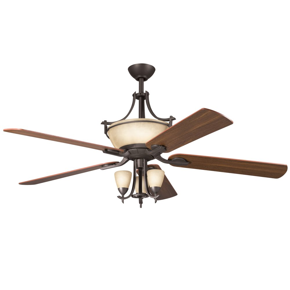 Celing Fans With Lights: Kichler Lighting 300011OZ 60-Inch Olympia Ceiling Fan, Old