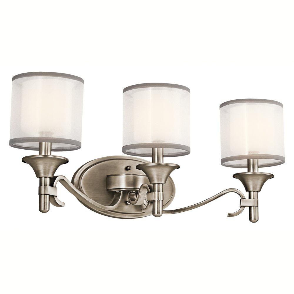 45283ap lacey 3lt vanity fixture antique pewter finish. Black Bedroom Furniture Sets. Home Design Ideas