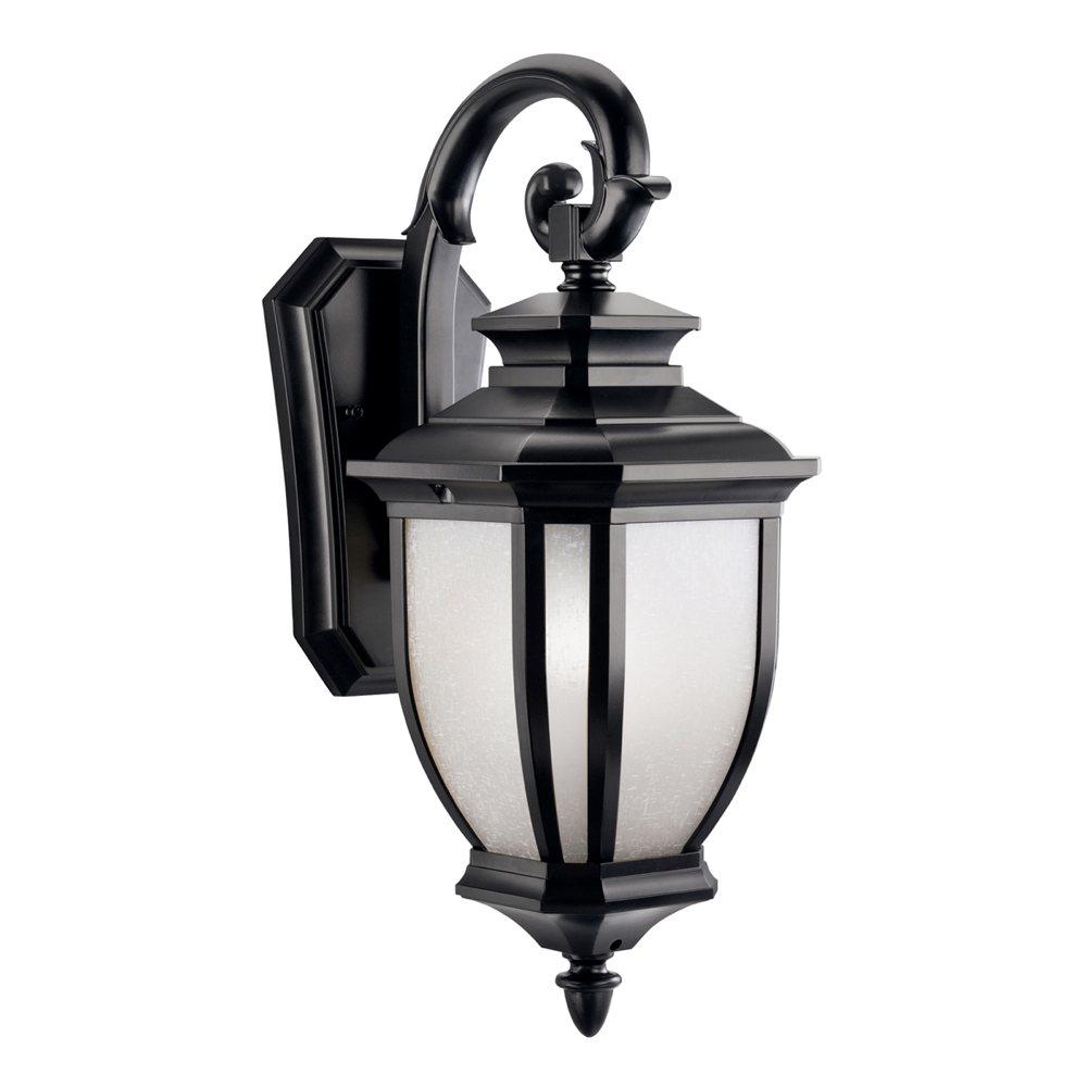 Outdoor Lamp Fixtures: Kichler Lighting 9040BK Salisbury 1-Light Outdoor Wall