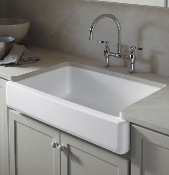Inch White Apron Front Kitchen Sink
