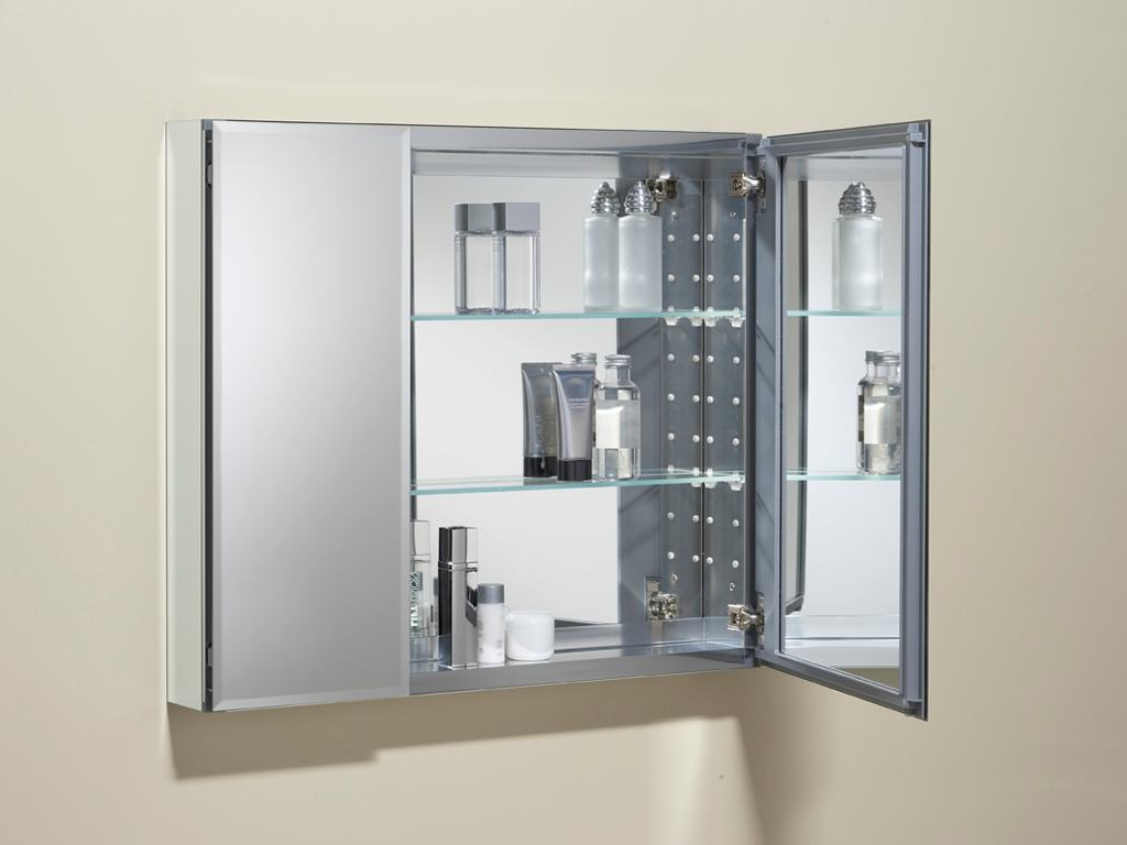 Kohler k cb clc3026fs 30 by 26 by 5 inch - Wall cabinet with mirror for bathroom ...