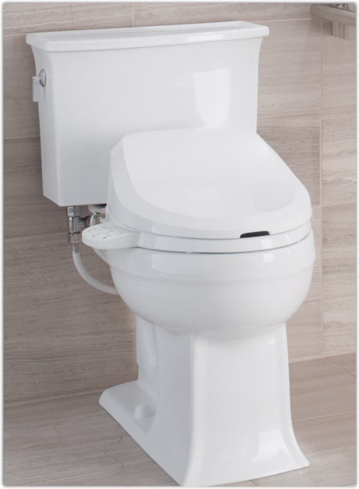 Kohler K 4737 0 C3 125 Elongated Bidet Toilet Seat With