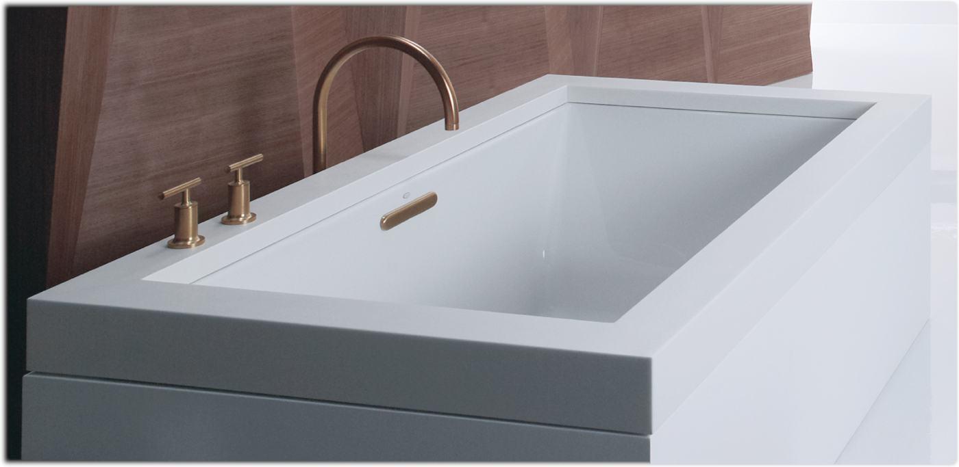 Amazon Com Kohler K 1130 0 Underscore 5 Foot Acrylic Bath
