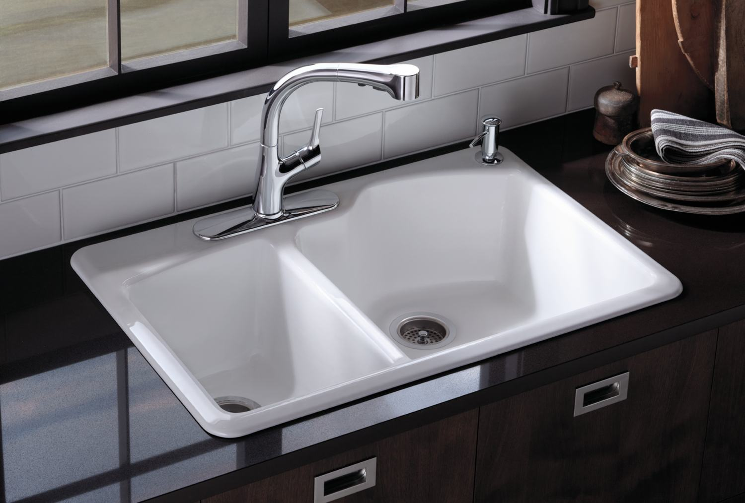 Amazon Kitchen Faucet Amazon Com Kohler K 5870 2 0 Wheatland Self Rimming