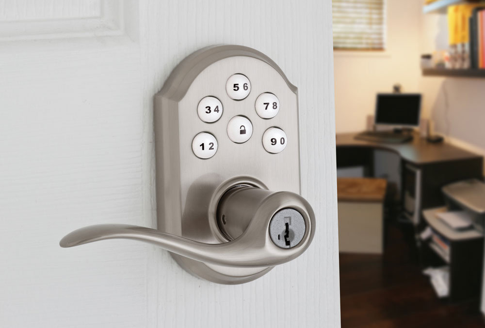 Kwikset 911tnl Nickel Smartcode Keyless Entry Door Lock