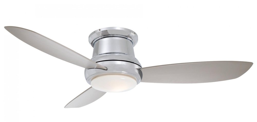 Minka Aire F518 Bn 44 Inch Concept Ii Flush Mount Ceiling Fan Brushed Nickel With Silver Blades