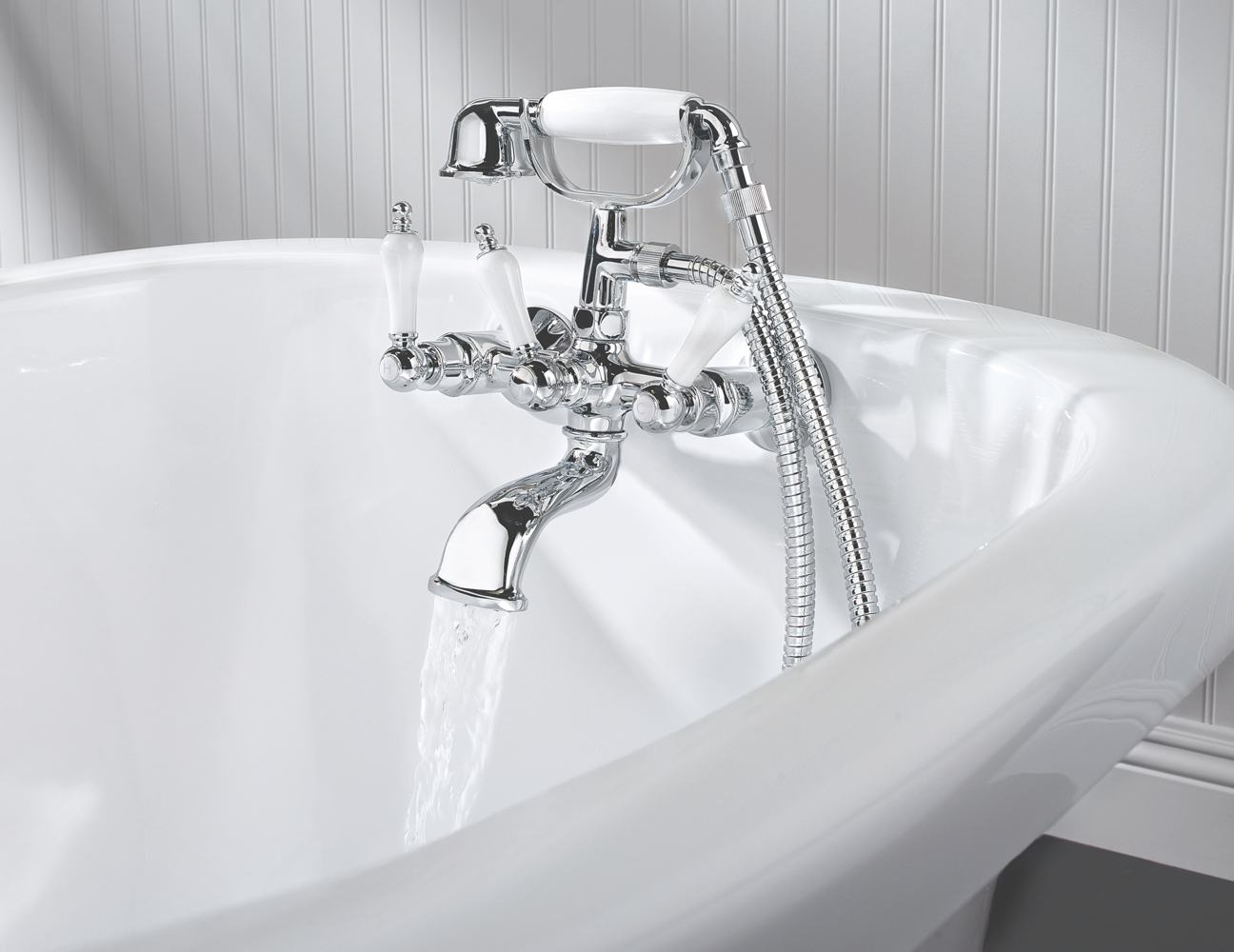 Amazon Com Pfister Savannah 3 Handle Tub Amp Shower Faucet
