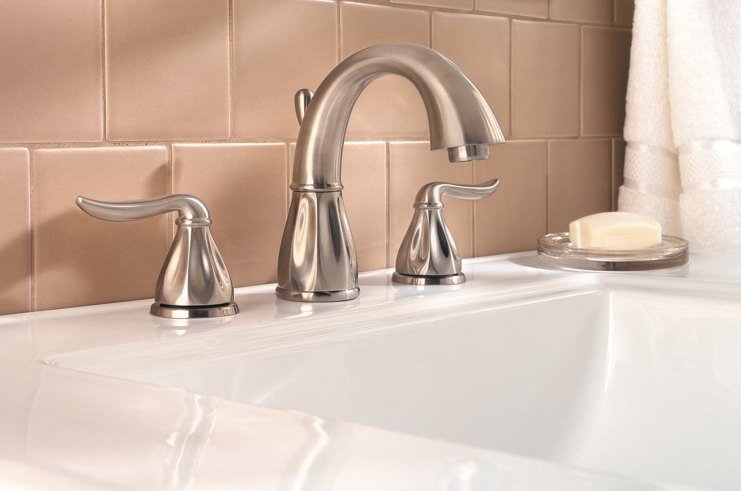 "7 Faucet Finishes For Fabulous Bathrooms: Pfister Sedona 2-Handle 8"" Widespread Bathroom Faucet In"