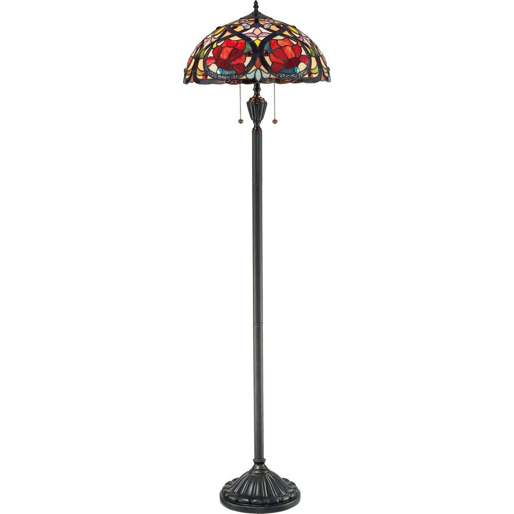 Lamp Buy: Quoizel TF879F Larissa 2 Light Tiffany Floor Lamp