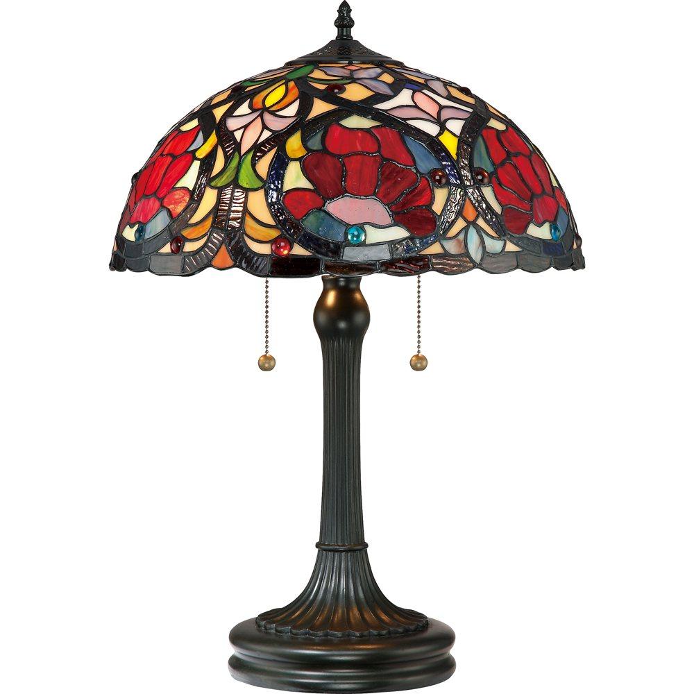 Quoizel Tf879t Larissa 2 Light Tiffany Table Lamp