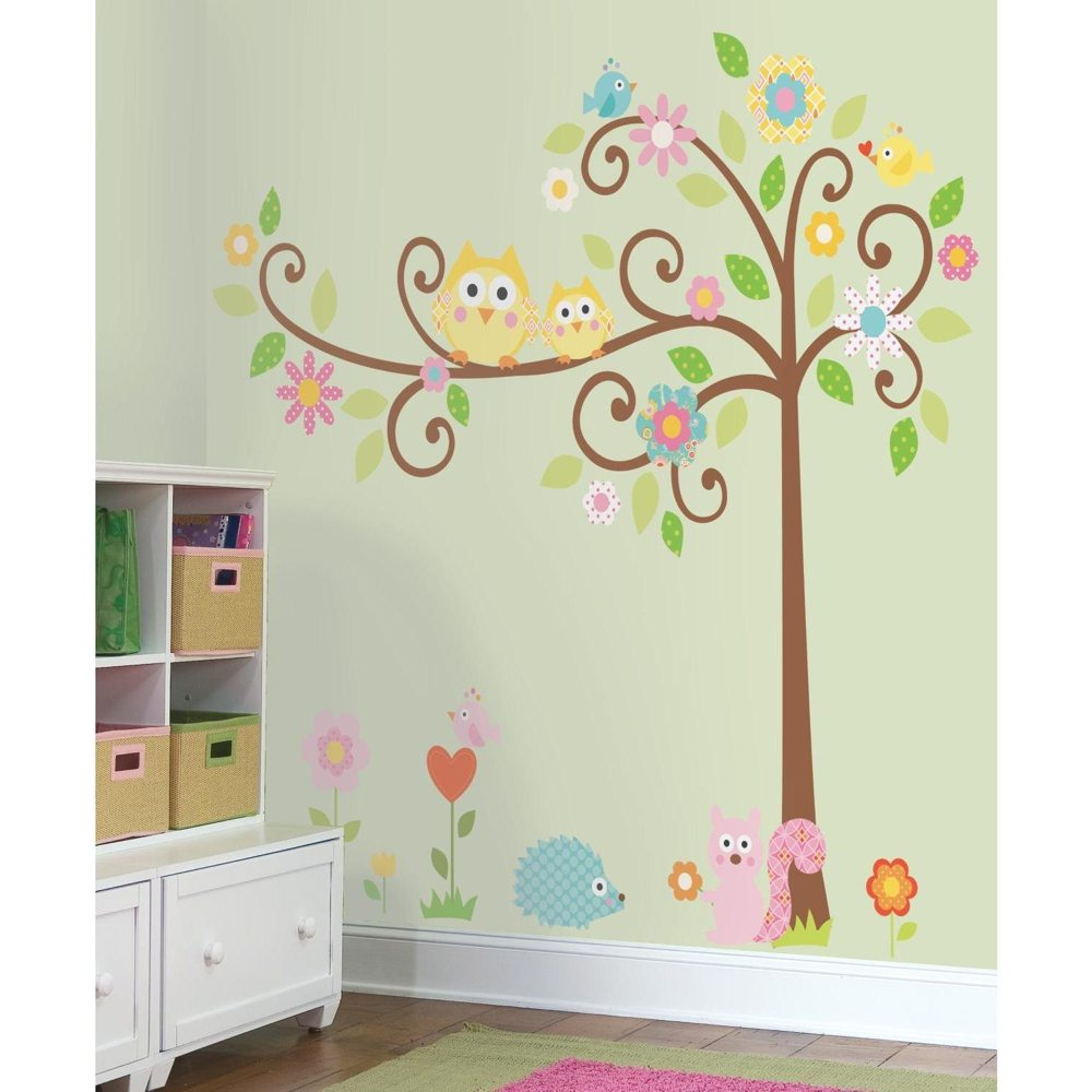 RoomMates RMK1439SLM Scroll Tree Peel & Stick Wall Decal ...