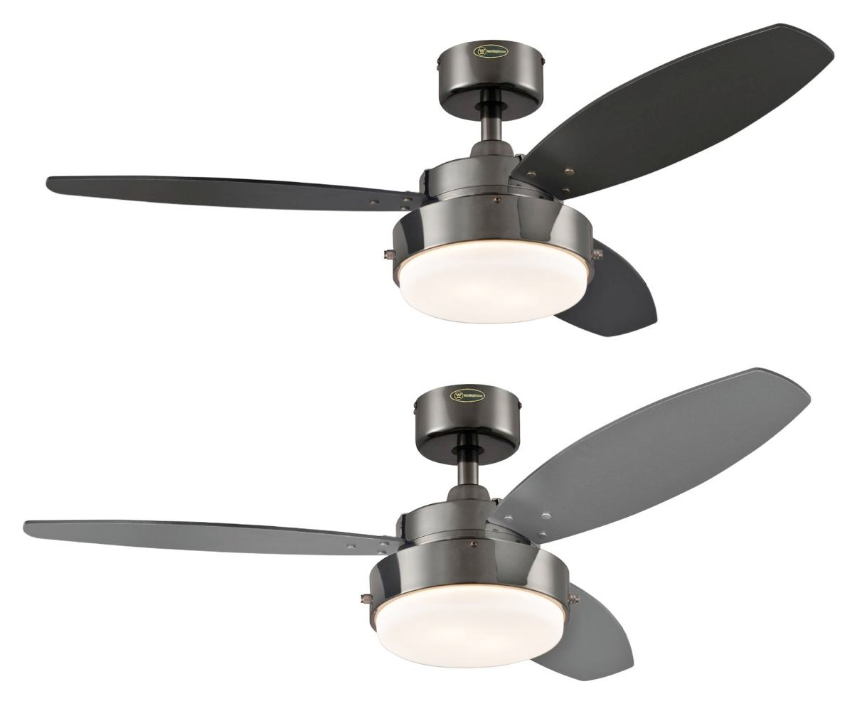 Westinghouse 2 Light 42 Quot Reversible 3 Blade Indoor Ceiling Fan Gun Metal Cool Ebay