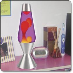 Lava Lite 52 oz Lava Lamp - Yellow/Purple/Silver