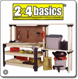 Hopkins 90164 2x4basics Workbench And Shelving Storage