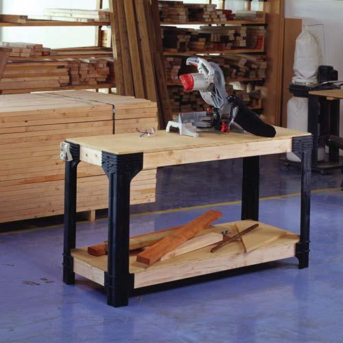 Diy Workbench Upgrades: 2x4 Basics Custom Workbench Shelf Storage System Office